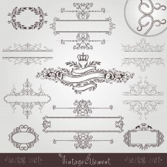 Old Royal Vintage Banner Border Frame Free Vector