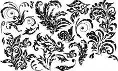 Grunge Florals Free Vector