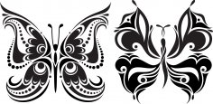 Tattoo Butterflies Free Vector Free Vector