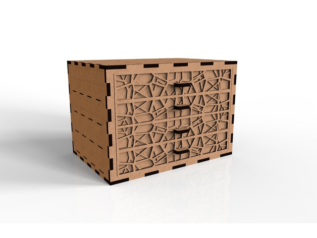 Laser Cut Box DWG File