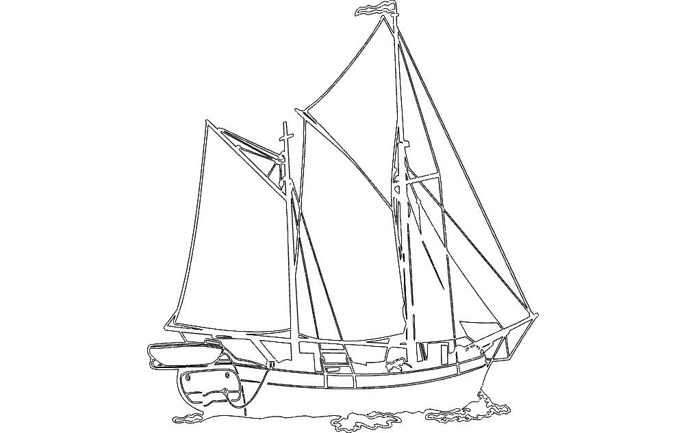 Sailing Ship dxf file