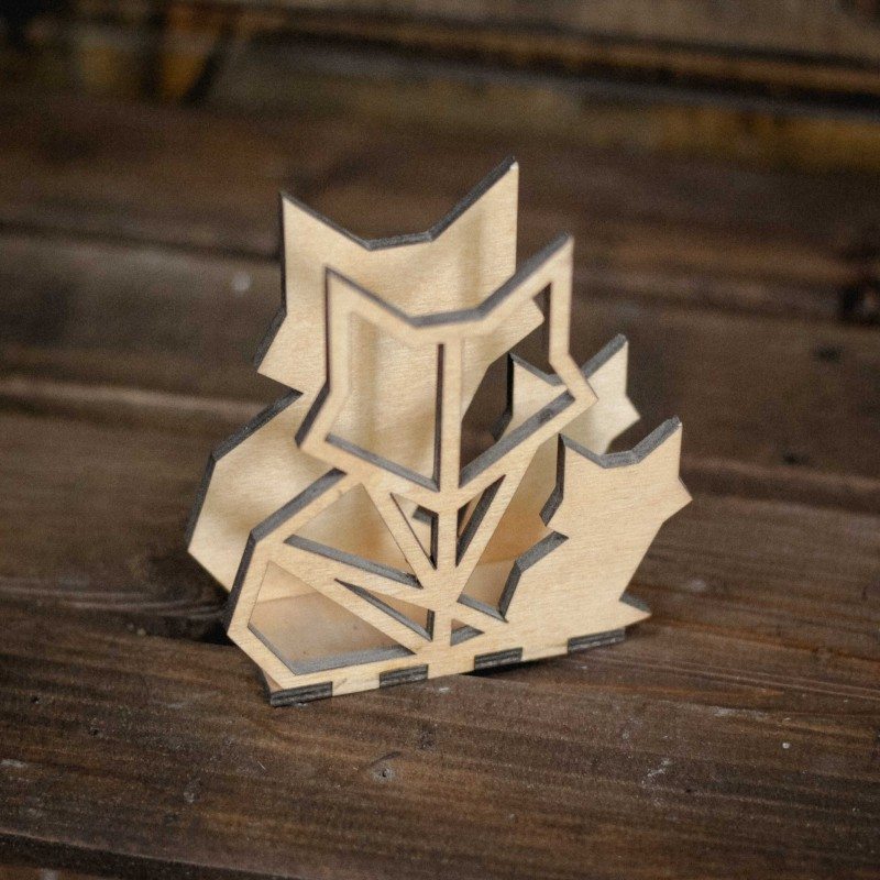 Laser Cut Cat Napkin Holder Free Vector