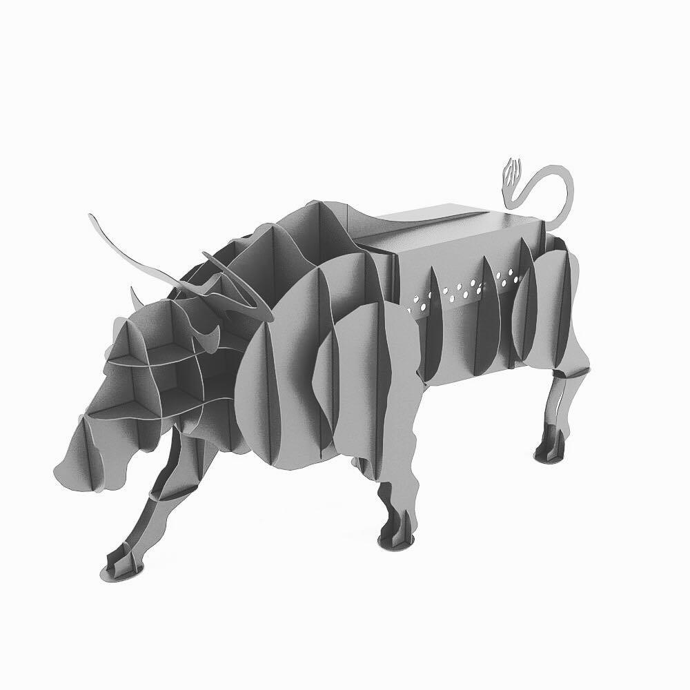 Bull BBQ Grill Plasma Cut Free Vector