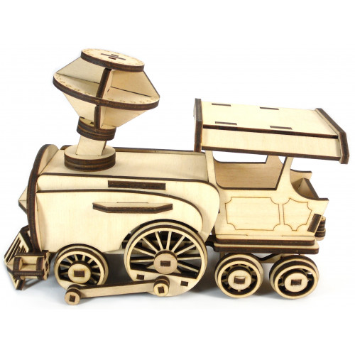 Laser Cut Wooden Locomotive Toy For Kids Free Vector