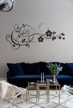 Laser Cut Flowers Wall Art Home Decor Free Vector
