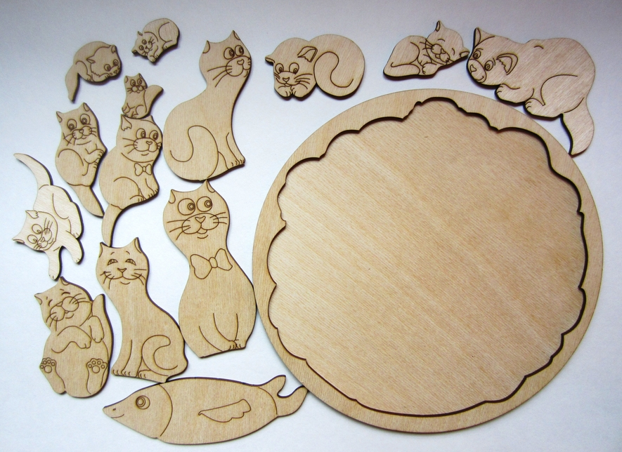 Laser Cut Wooden Animal Jigsaw Puzzle Games For Kids Free Vector