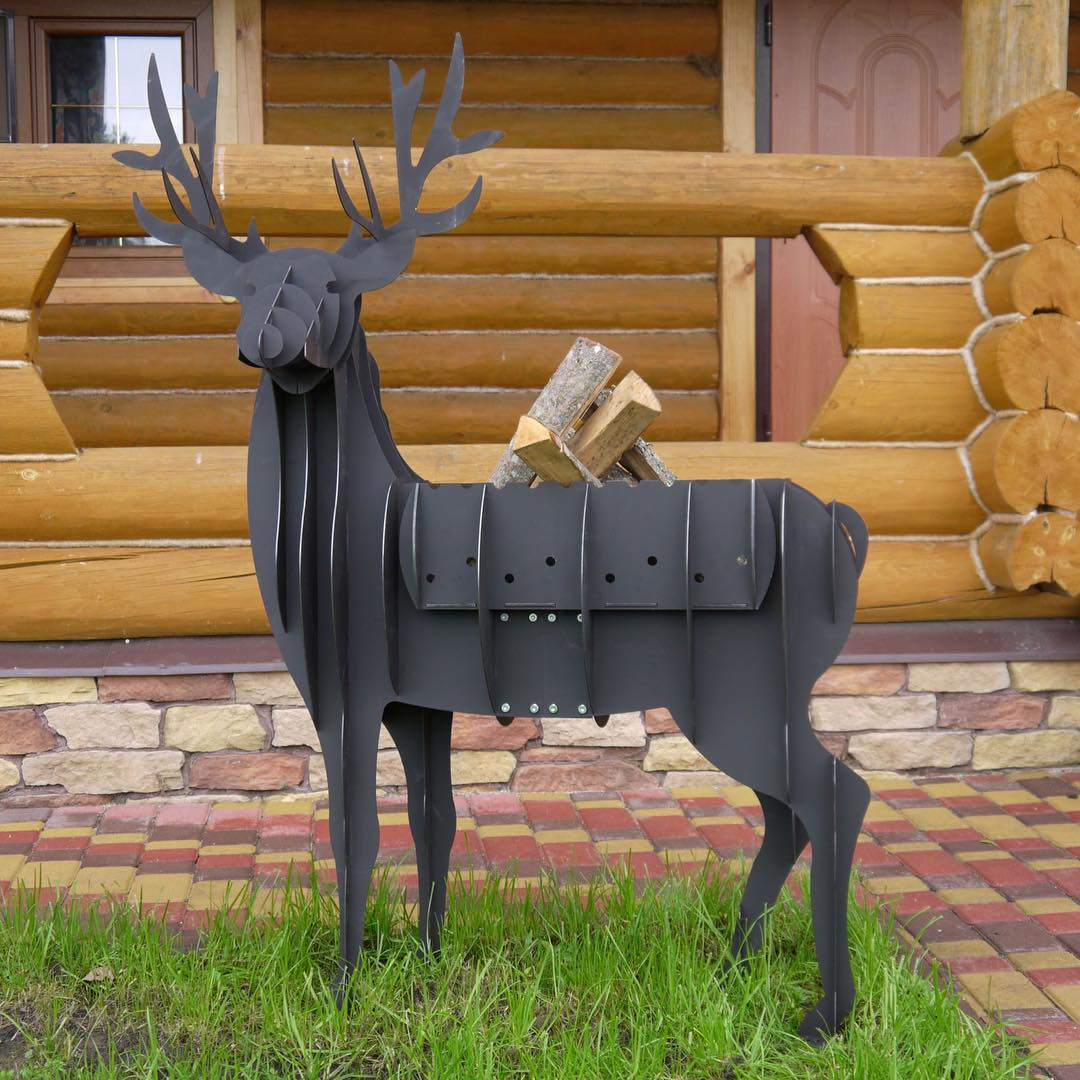 Laser Cut Deer BBQ Grill Free Vector