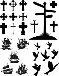 Christian Cross Silhouette Free Vector