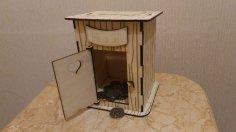 Laser Cut Toilet Piggy Bank Free Vector