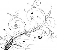Abstract Vine Branches Vector Art Free Vector