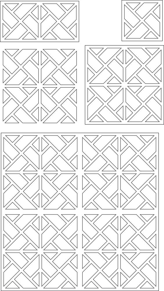 Laser Cut Panels Decorative Pattern Free Vector