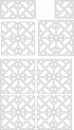 Laser Cut Panels Decorative Pattern Free Vector