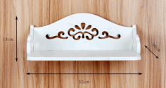 Laser Cut Wall-Mounted Shelf Free Vector