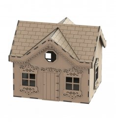 Laser Cut Modern Wooden Toy House Wooden Doll House Free Vector