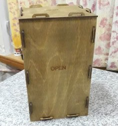 Laser Cut Collapsible Wooden Box Foldable Storage Box Free Vector