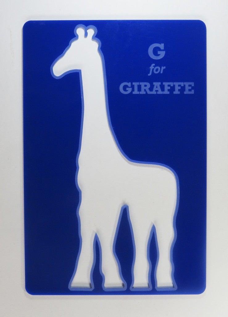 Laser Cut Alphabet Giraffe Puzzle For Kids Acrylic 3mm SVG File