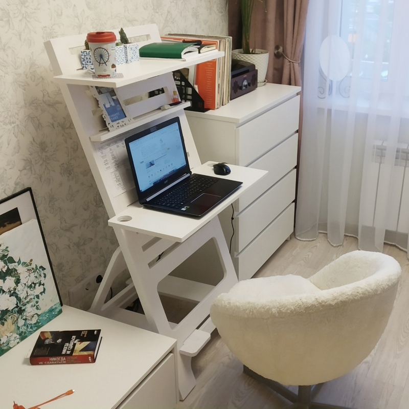 Laser Cut Folding Computer Desk Home Office Desk DWG File