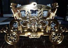 Laser Cut Decorative Carriage Flower Holder Free Vector