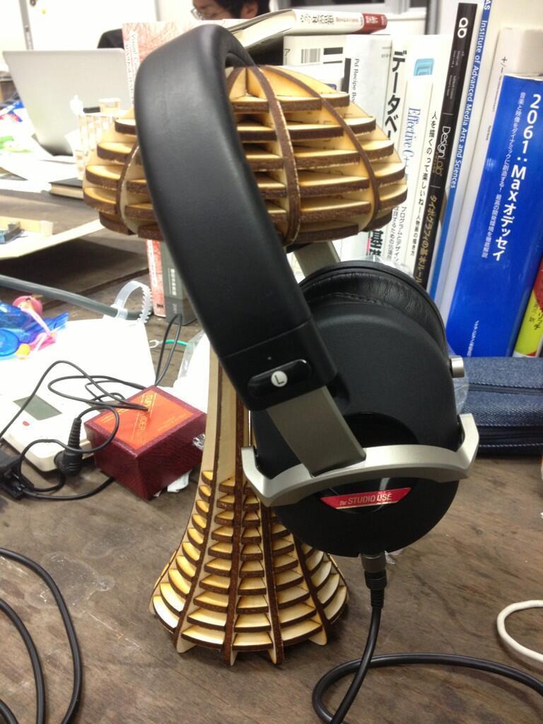 Laser Cut Mushroom Headphone Stand W150xD120xH250mm Free Vector