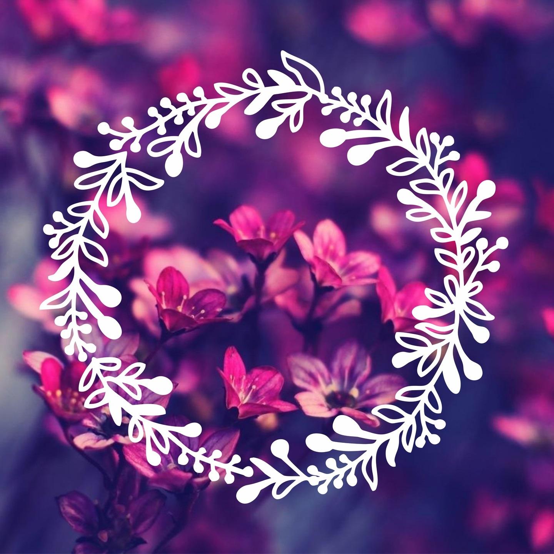 Laser Cut Engrave Flower Leaf Wreath Decoration Free Vector
