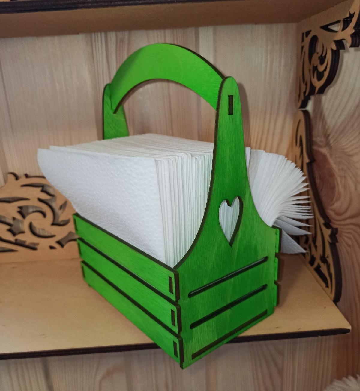 Laser Cut Napkin Holder Basket Free Vector