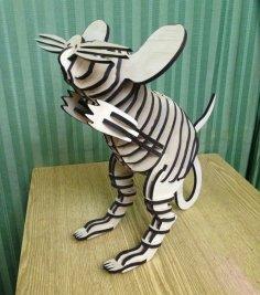 Laser Cut Mouse 3D Puzzle Free Vector