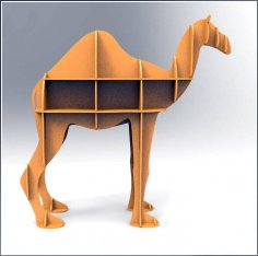Laser Cut Camel Shelf Bookcase Display Storage Furniture Free Vector