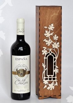 Wine Box Wine Case Laser Cut Template DXF File