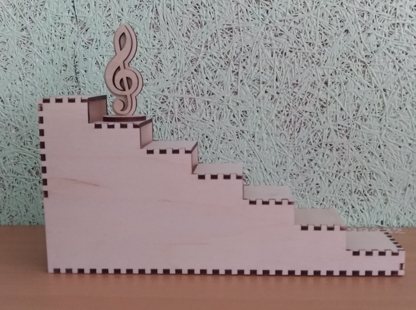 Wooden Ladder Stair Step Display Stand Laser Cutting Template Free Vector