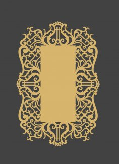 Decorative Holiday Card Laser Cutting Template Free Vector