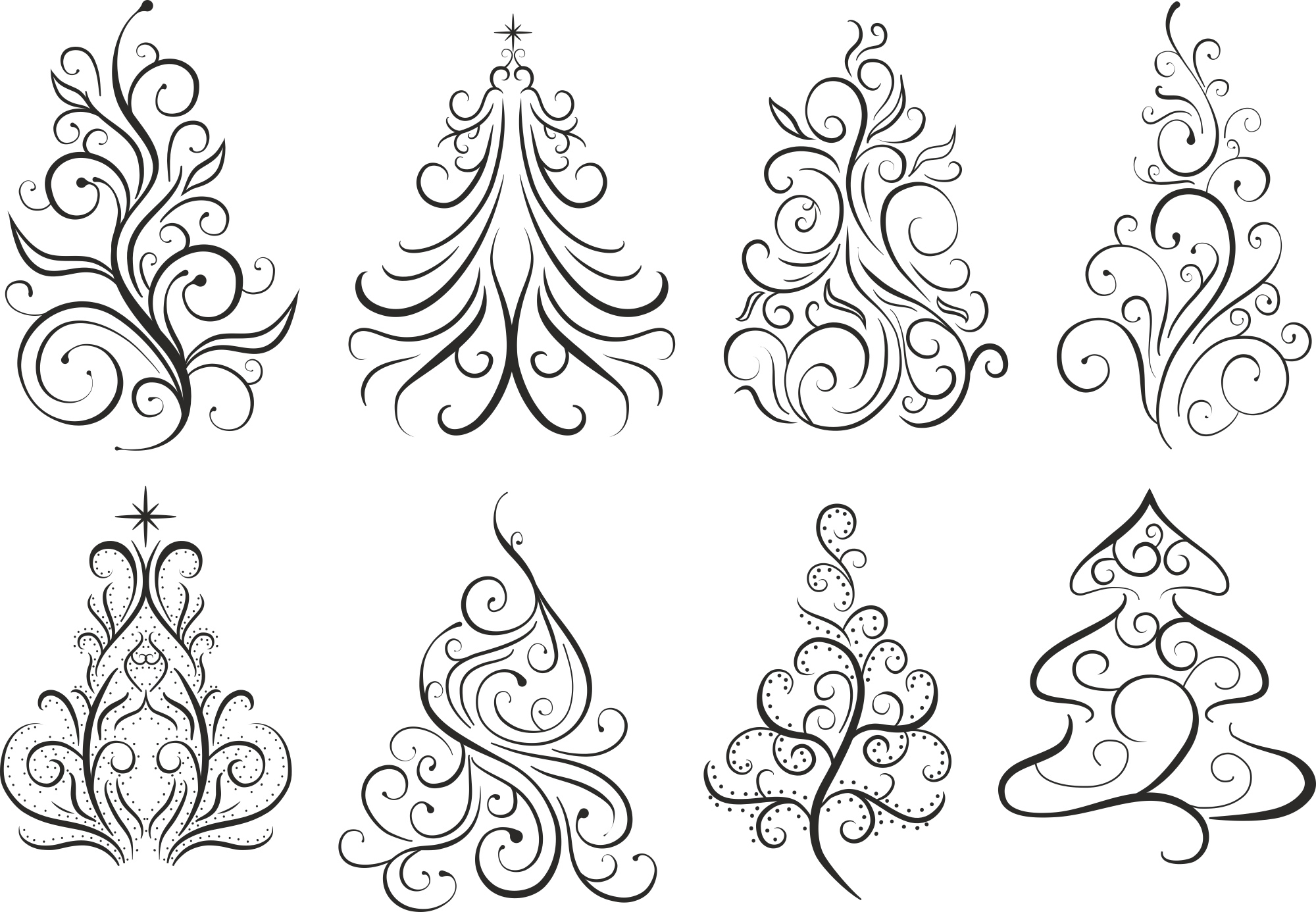 Christmas Swirl Free Vector