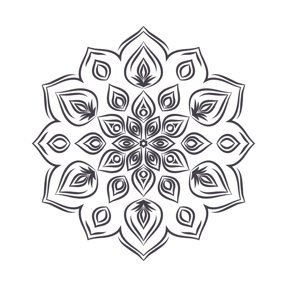 Mandala For Coloring 5 Free Vector