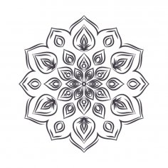 Mandala For Coloring 5 Free Vector