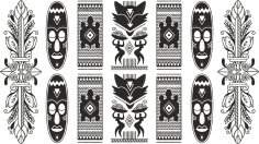 African Pattern Free Vector