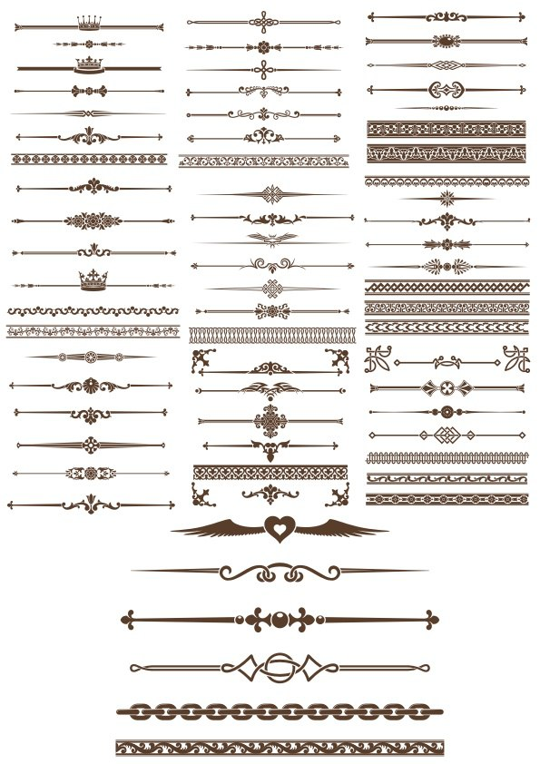 Decorative Elements Borders Free Vector