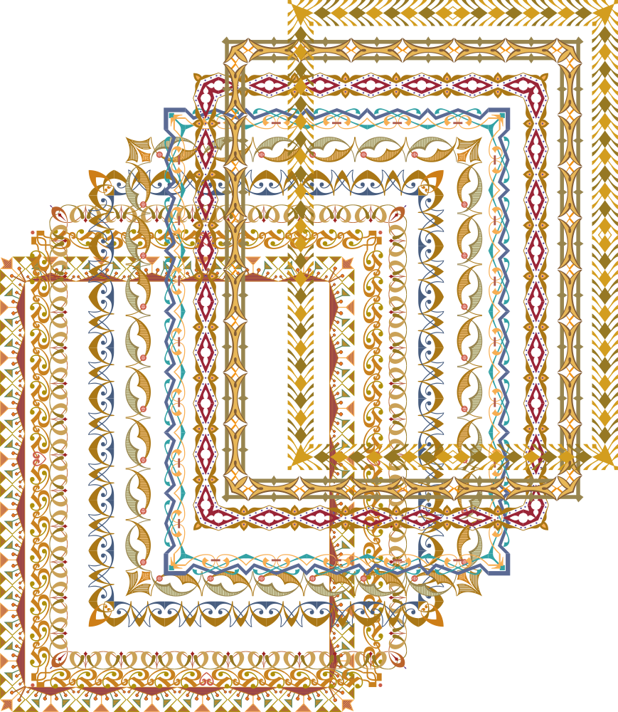 Gold Frame Shiny Vectors Free Vector