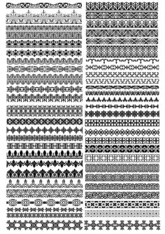 Traditional Ornamental Borders Set Free Vector