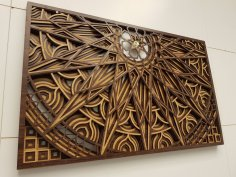 Laser Cut Multilayer Frame Wall Art Free Vector