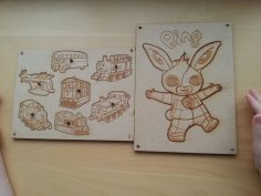 Laser Cut Kid's Puzzles 3mm MDF SVG File