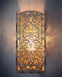 Laser Cut Carved Night Light Wall Light Lamp Free Vector