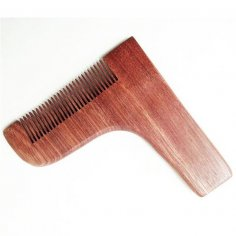 Laser Cut Beard Shaping And Styling Tool Comb Free Vector