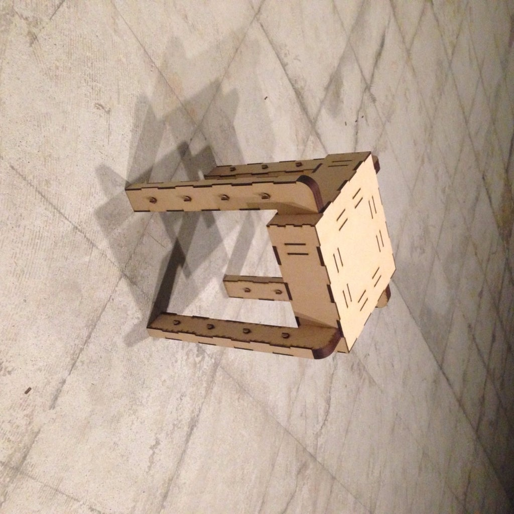 Laser Cut Mini Stacking Stool MDF 2.5mm DXF File