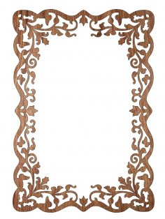 Laser Cut Decorative Frame Template Free Vector
