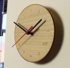 Laser Cut Dancer's Clock DXF File