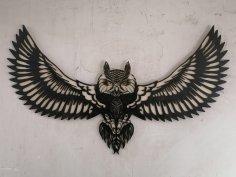 Laser Cut Flying Owl Wall Decor Free Vector