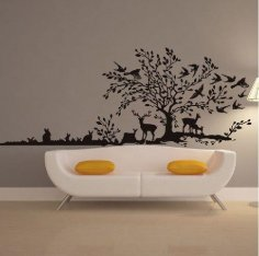 Laser Cut Decorative Panel On Wall Free Vector