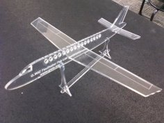 Acrylic Airplane Toy Laser Cut Template Free Vector
