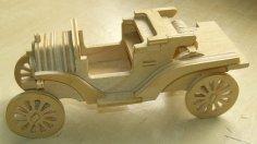 Laser Cut Ford Model T Car DXF File