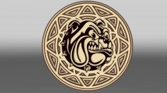Laser Cut Multilayer Bulldog Wall Art Template Free Vector