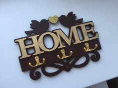 Laser Cut Coat Key Hanger Home Decor Idea Free Vector